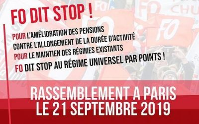 Rassemblement du 21 SEPTEMBRE à PARIS : FO dit NON, un point c'est tout !
